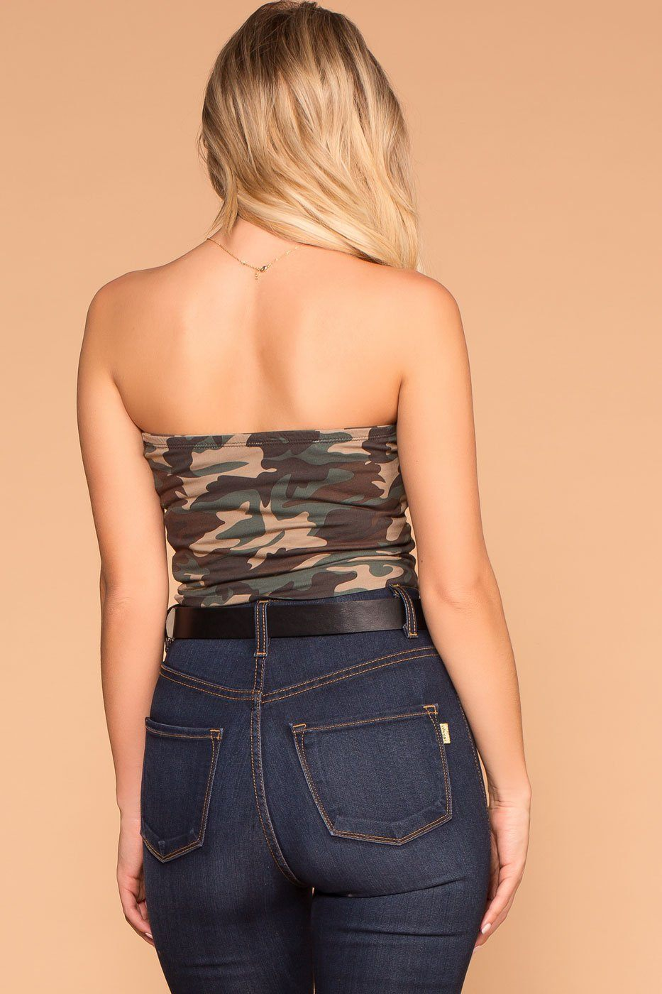 Priceless | Camo | Crop Tube Top | Womens