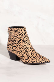 Go Wild Leopard Print Pointed-Toe Booties