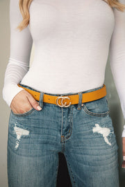 Mustard Gold Buckle Belt