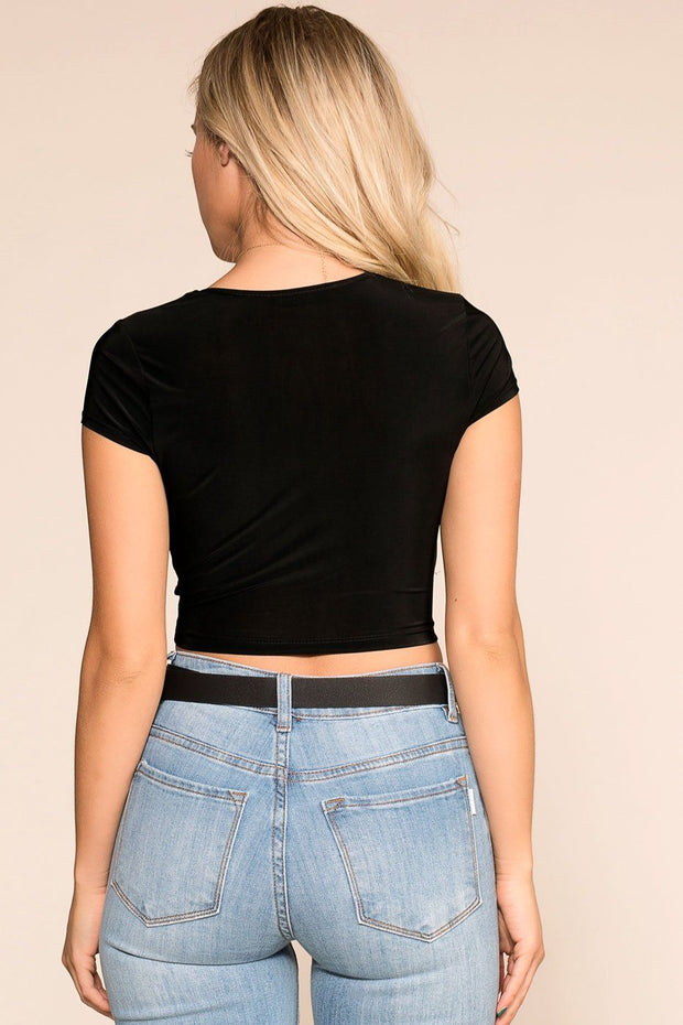 Shop Priceless | Twisted | Black | Crop Top | Womens