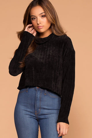 Raquel Burgundy Button Tie-Front Waffle Knit Top