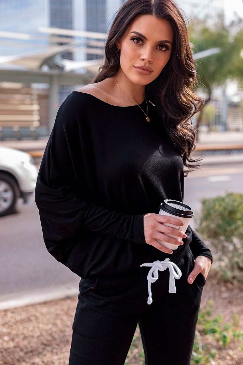 Grayson Black Loose Oversize Top