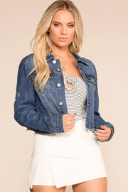 Priceless | Distressed | Crop | Denim Jacket | Womens