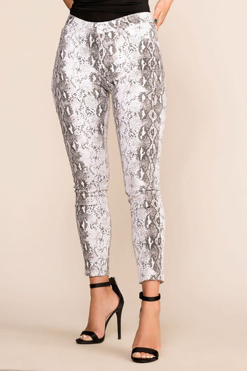 Priceless | White | Snakeskin Pants | Womens