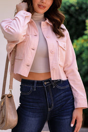 Blush Cropped Jacket