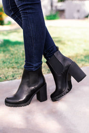 Black Vegan Leather Boots