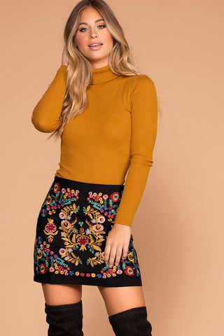 Manda Black Button Off The Shoulder Crop Top