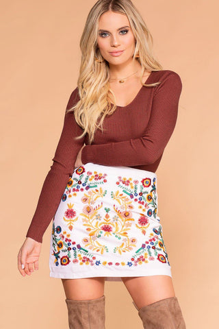 Catching Leaves Swing Pocket Dress - Copper