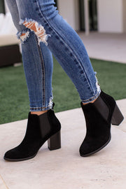 Black Block Heel Booties