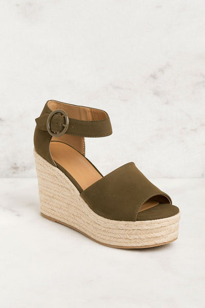 Shop Priceless | Olive | Wedges | Raffia | Womens