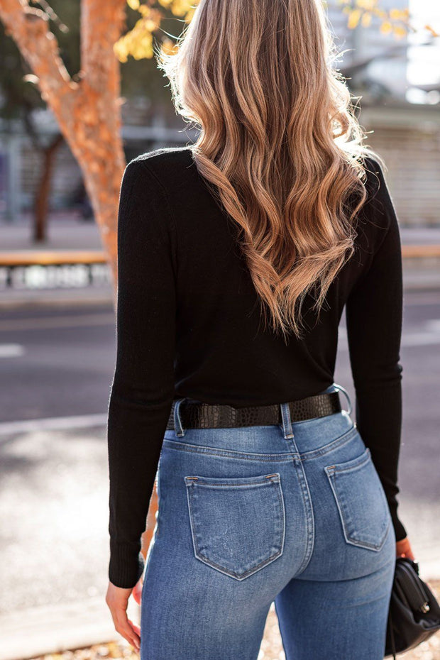 Black Cardigan Top