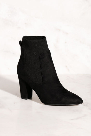 High Energy Black Sock Booties