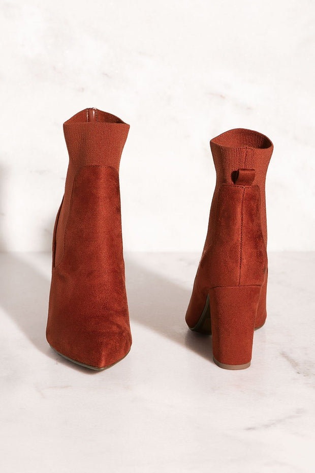High Energy Rust Sock Booties