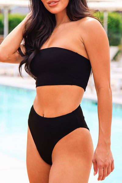 High Tide Black Swimsuit Bottoms