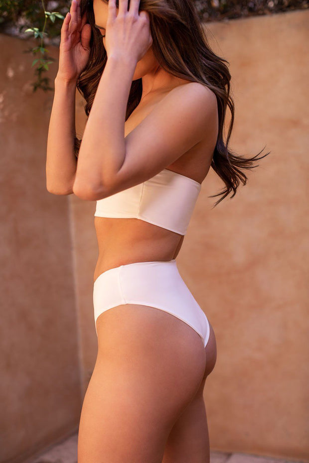 High Tide White Swimsuit Bottoms
