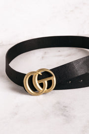 Highlight Black Matte Gold Belt