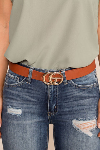 Moonlight Brown Buckle Belt