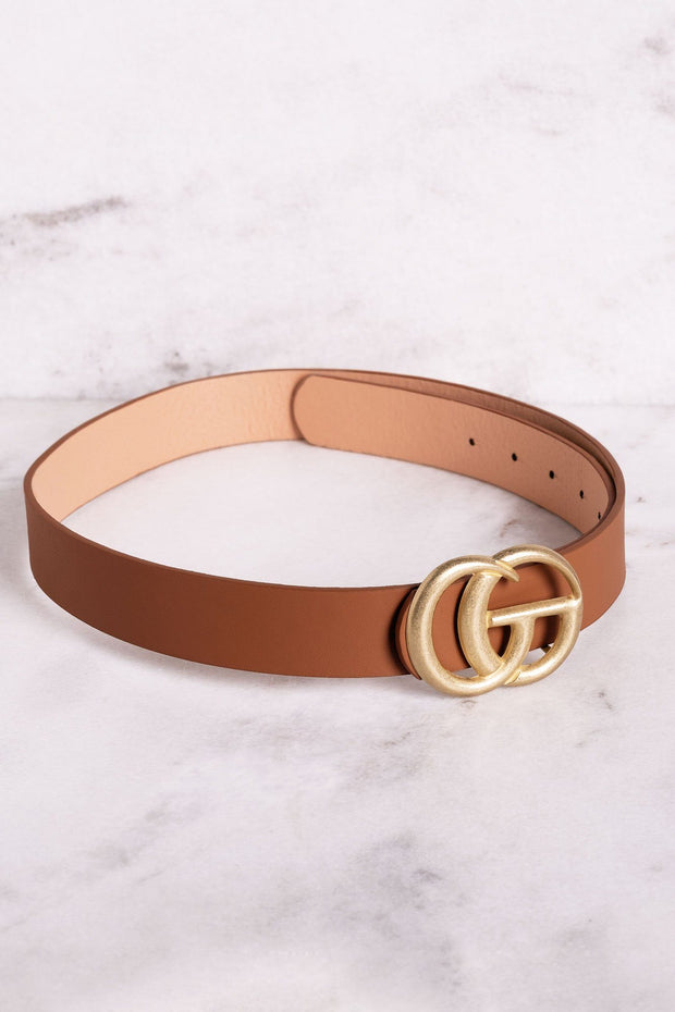Highlight Tan Matte Gold Belt