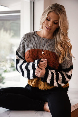 Flashback Yellow Twist Back Knit Sweater