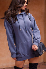 Blue Hoodie Dress