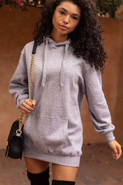 Heather Grey Hoodie Dress