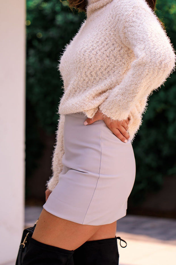 Grey Mini Skirt