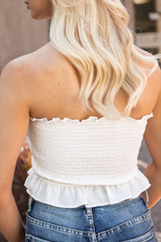 Hope White Buttoned Crop Top | Shop Iris Basic