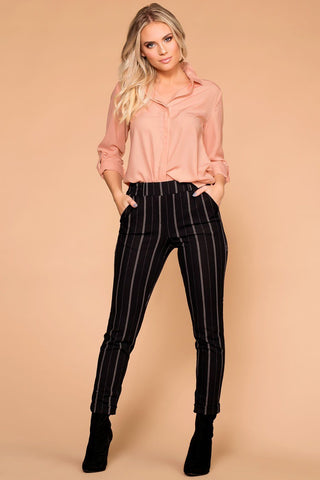 Sable High Waist Pants - Mauve