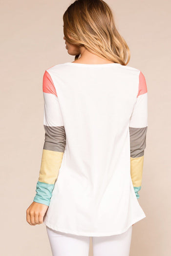 Priceless |  Colorblock Pocket Top | Longsleeve | Womens