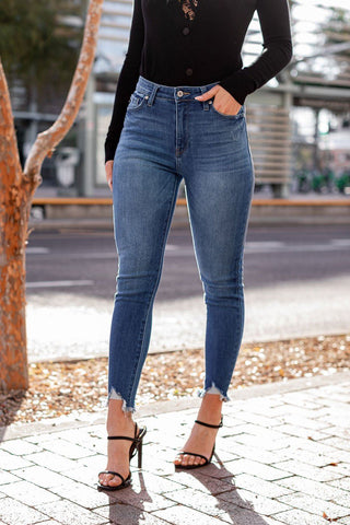 Catch Up Distressed Skinny Jeans