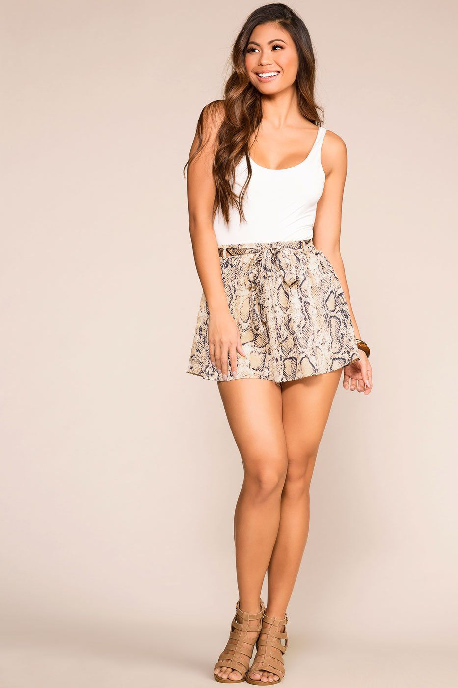 Priceless | Gold | Snakeskin Shorts | Womens