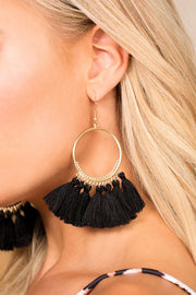 Priceless | Black | Tassel Earrings | Womens