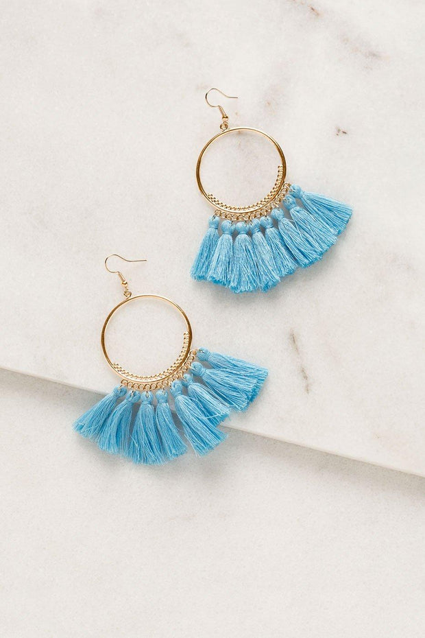 Priceless | Light Blue | Tassel Earrings | Womens