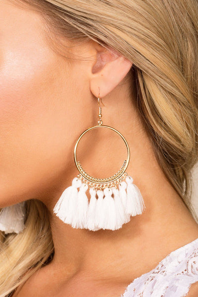 Priceless | White | Tassel Earrings | Womens