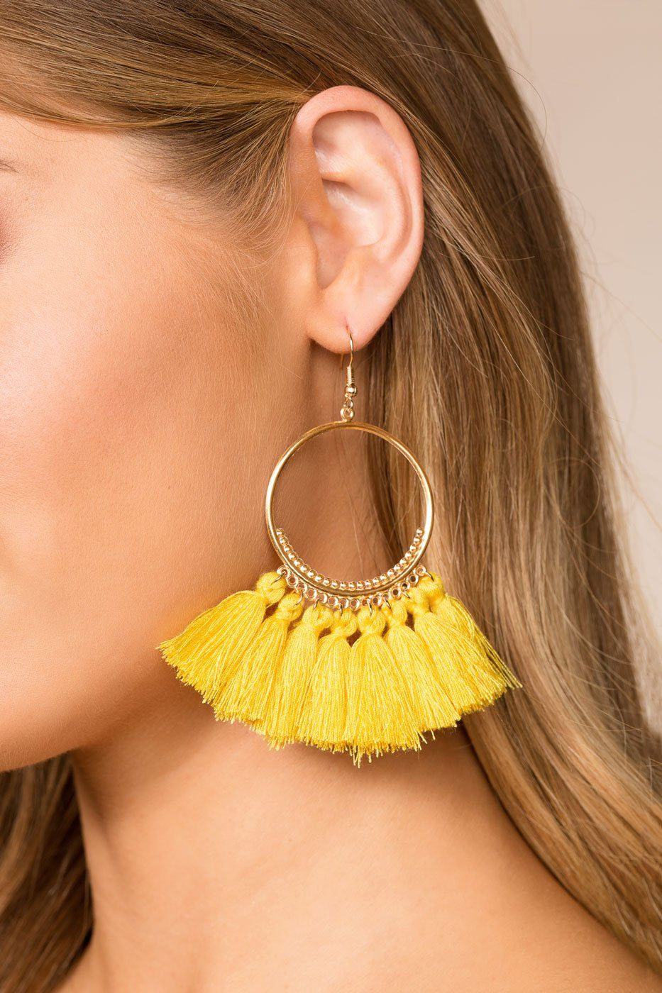 e19a6df74560af ... Yellow Tassel Earrings | Shop Priceless. 1; 2