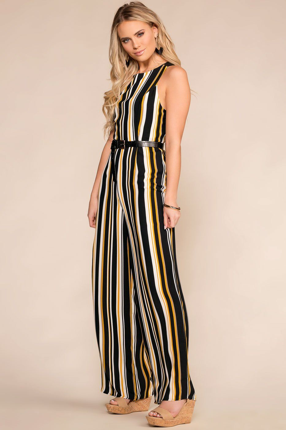 9dd043d4f0ff In The Present Striped Jumpsuit