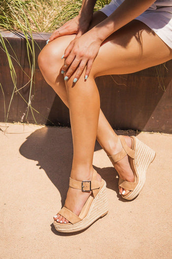 In Your Dreams Tan Wedges | Fortune Dynamic
