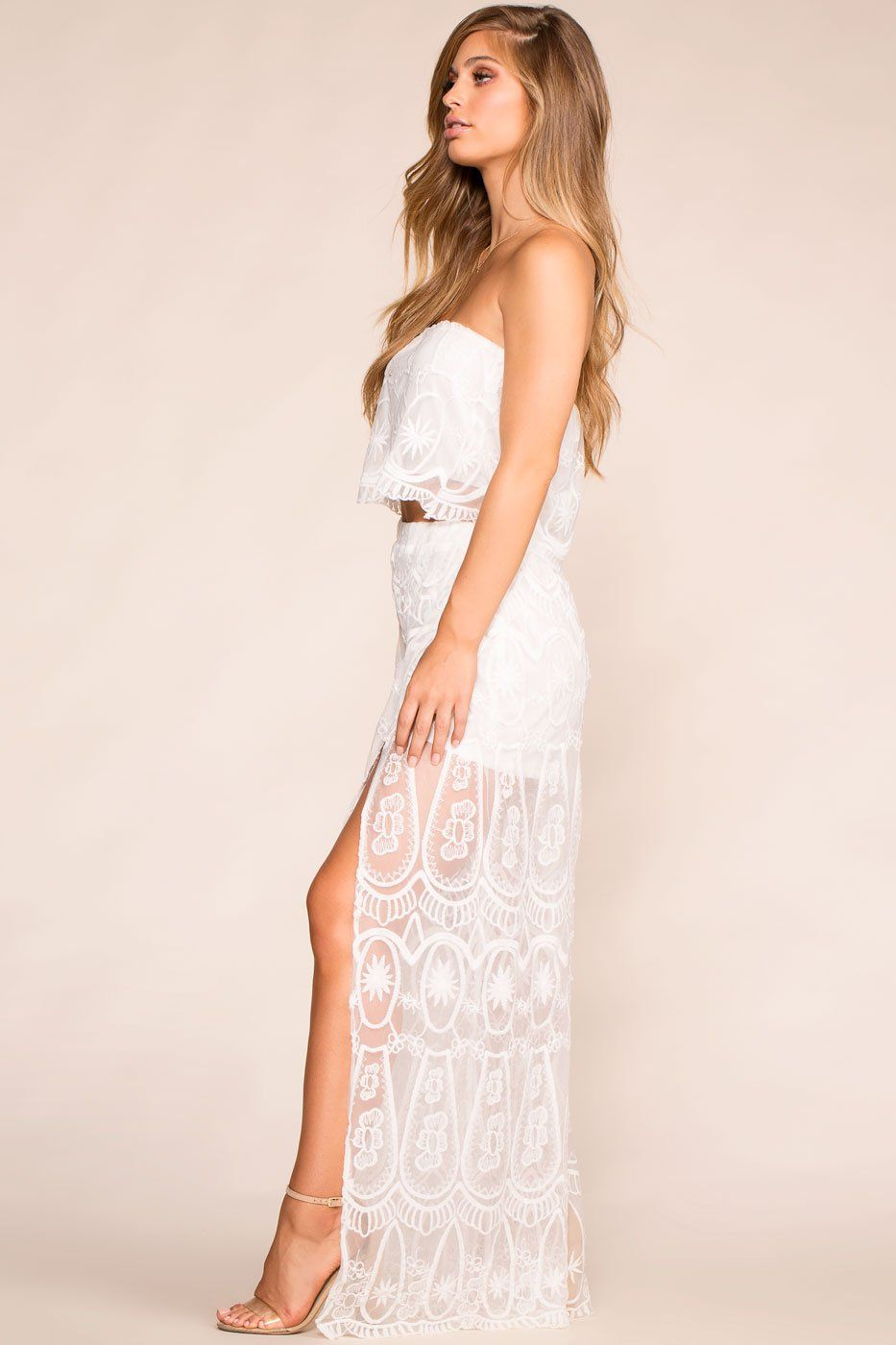 440d1fb640a ... Boho White Lace Flowy Pants ...