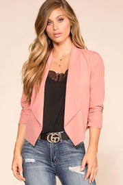 Mauve Fitted Blazer