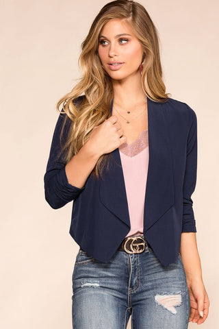 Bunches Of Flowers Moto Blazer