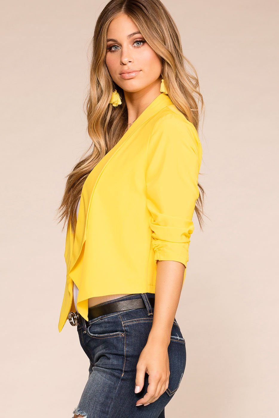 Priceless | Yellow | Blazer | Womens