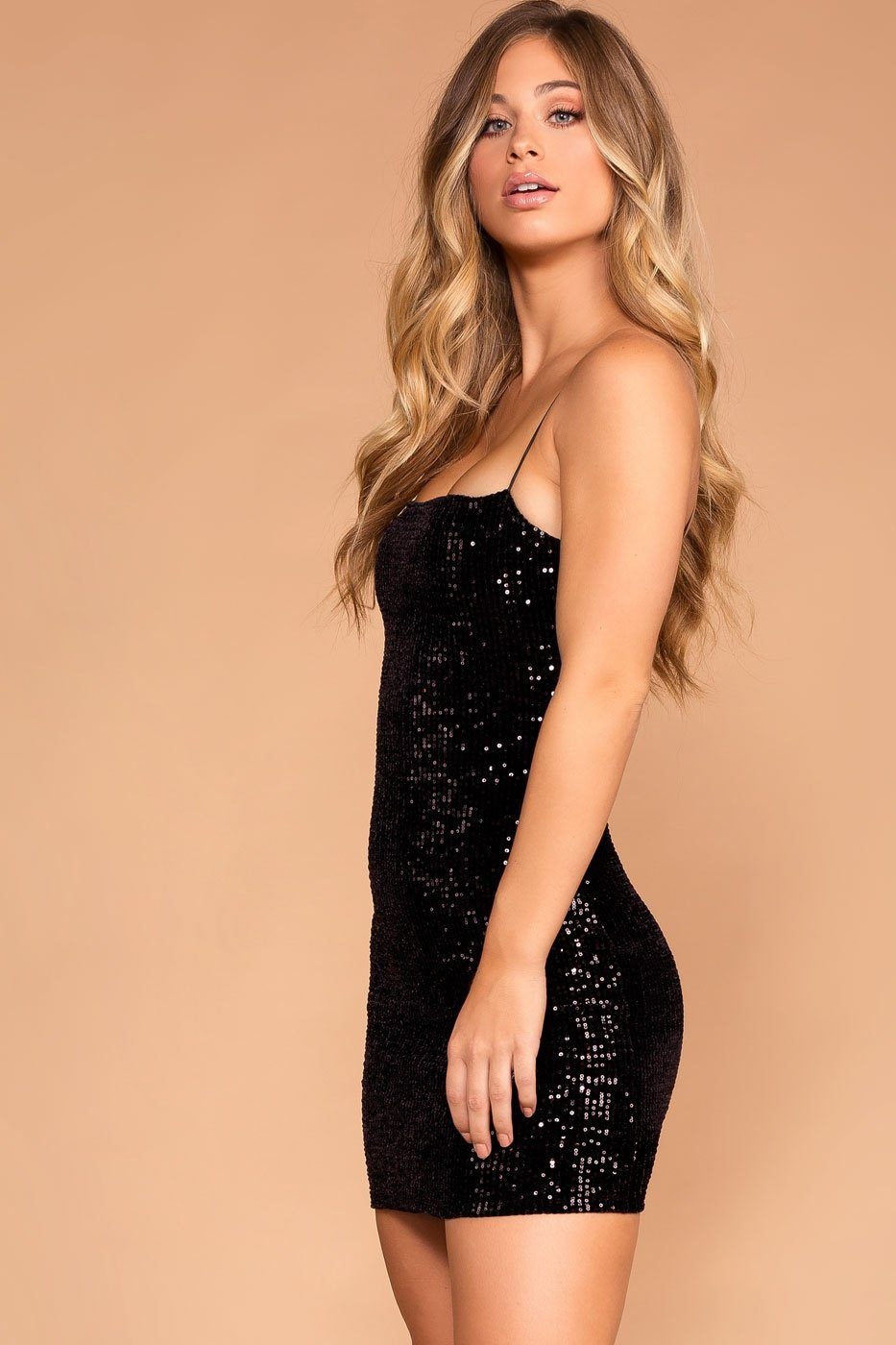 03acc7131692 It Happened At Midnight Black Sequin Bodycon Dress | Chocolate