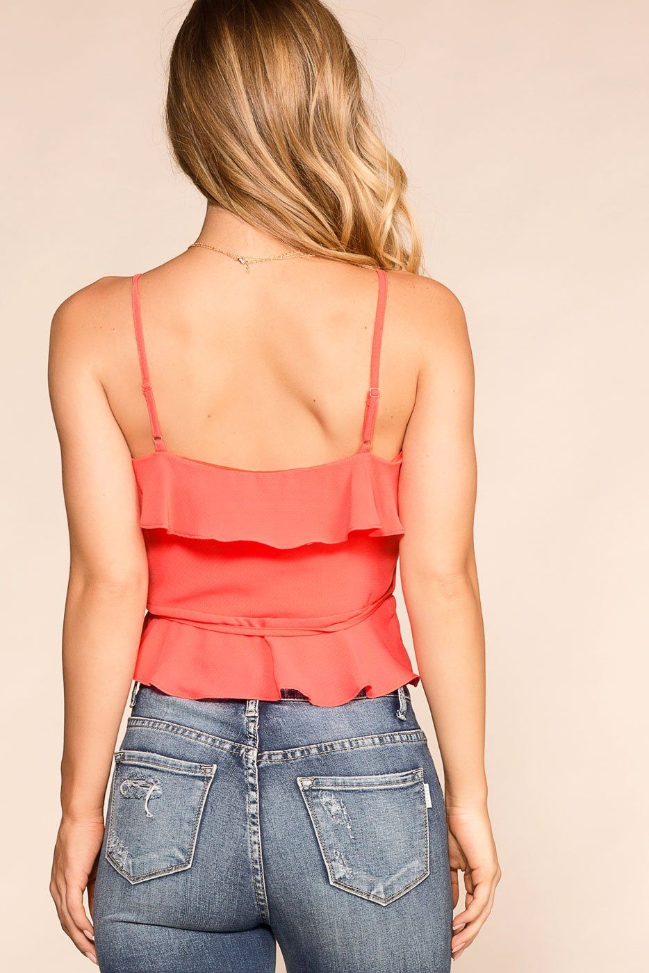 Shop Priceless | Coral | Wrap Top | Womens