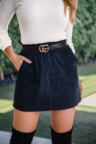 Felicity Black Scalloped Shorts