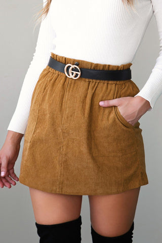 Kiss This Taupe Envelope Skort