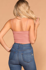 Square Mauve Crop Top