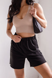 Black Lounge Shorts