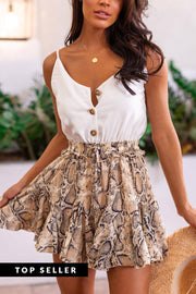 Just A Fling Snakeskin Romper