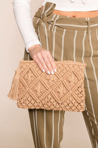 Perfect Timing Lime Chevron Handbag