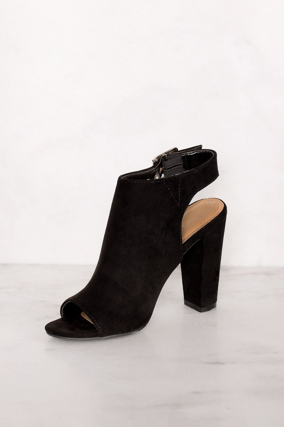 Priceless | Black | Buckle Heels | Shoes | Womens
